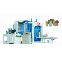 China Fully Automatic Concrete Block Making Machine For Cement / Sand / Rivel Sand Materials on sale