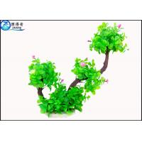 Best Two Branch Plastic Tree Artificial Aquarium Plants With Small Flowers For Decoration wholesale