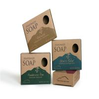 China Custom Printed Die Cut Soap Packaging Box With Recycled Brown Kraft Paper on sale