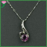 Best professional manufactured 925 sterling silver amethyst stone necklace pendent wholesale