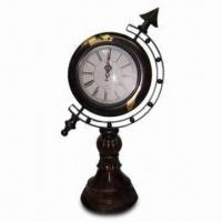 Best Polystone Desk Clock with Globe Design wholesale