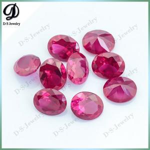 AAA quality Oval Shape semi precious machine cut rubies ruby red for sale