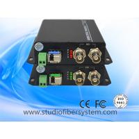 China 3GSDI to fiber converters for 1CH full HD1080P 60HZ SDI and 1 RS485 transmission over 1 LC fiber without delay on sale