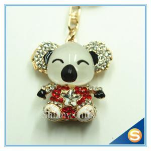 China Fancy Manufactures Fashion Car Bear Key Chains Metal Charm Pendant Key Chain on sale