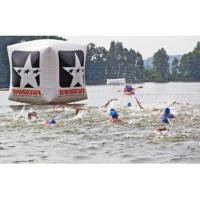 China Swimming Event Inflatable square buoy Inflatable Water floating buoy for water race on sale