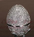 Best diamond egg jewely box,faberge egg wholesale