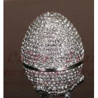 Cheap diamond egg jewely box,faberge egg for sale