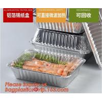 Best Food grade aluminium foil container/ carryout lunch box/tray with Cardboard Lid,airline foil food container bagplastics wholesale