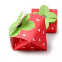 Best Strawberry Shaped Paper Candy Box Packaging Custom Design Printing Logo wholesale