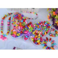 China DIY beads, New kids craft kits for girls plastic beads toys making DIY jewelry set/diy on sale