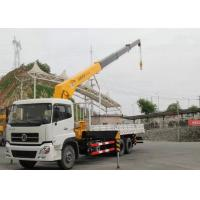 Best Dongfeng LHD 6x4 15 Ton Crane Truck , Mobile Crane Truck With Telescopic Boom wholesale