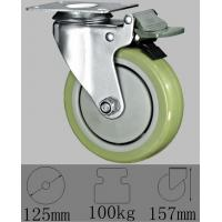 China 5 Polyurethane Stem Caster with swivel plate mountting on sale