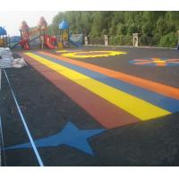 China Pour In / Wet Pour Epdm Rubber Flooring , Colorful Rubber Granules Flooring Playground Cover  on sale