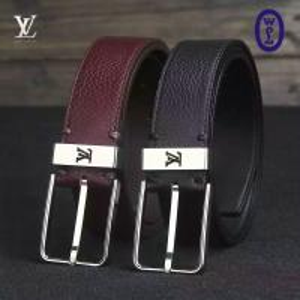 Best Wholesale LV Men Black Belt Authentic Quality Original Leather with Original Hardware wholesale