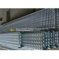 China Bolted Fixing Serrated Galvanized Stair Tread , Anti Slip Steel Grate Stair Treads on sale