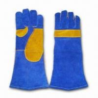 Best Welding Gloves with Double Palm and 1-piece Leather Back wholesale
