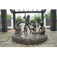 Best Realistic Large Outdoor Bronze Sculptures Children Playing Shape Antique Design wholesale
