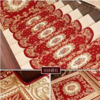 China Red Traditional PVC Carpet Flooring , Oval Shape Stair Tread Rugs on sale