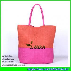 Best LUDA online shopping professional factory custom beach bag stripe paper straw handbag wholesale