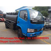 Best Factory sale new cheapest price CLW brand mini 4*2 LHD/RHD 5cbm oil tank delivery truck, diesel tank vehicle for sale wholesale