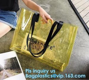 Promotional PVC Clear Beach Towel Bags, PVC reusable beach bag, Sand Bags Cosmetic Bag Handbag, Handle bag/pvc handle ba
