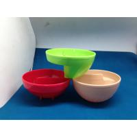 China Plastic Kids Melamine Salad Bowl With SGS FDA Houseware Acid Resistance on sale