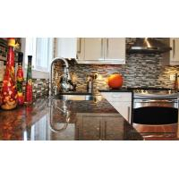China Coffee Brown Granite Kitchen Stone Slab Countertop Table Top Polished  Brushed on sale