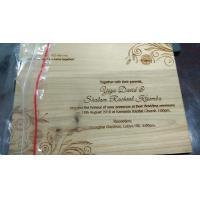 China wood anniversary board,wood wedding invitation card,birthday recording card,recalling summary card, on sale