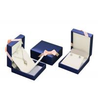 China Mens PU Leather Cardboard Jewelry Boxes Bulk Ring Gift Box With Removable Drawer on sale