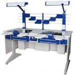 Best Dental furniture AX-JT6 double person dental lab workstation used for dental lab wholesale