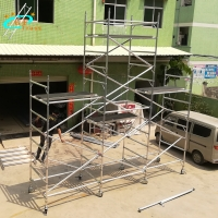 Best OEM Aluminium Scaffold Tower 6m Platform Height With Outriggers wholesale