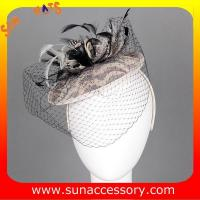 Best 0922 hot sale fashion sinamay fascinators hats with veil,Fancy Sinamay fascinator  from Sun Accessory wholesale