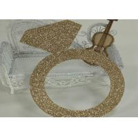 Best Glitter Paperboard Ring Glitter Paper Letters Gold Color For Birthday Cake Decor wholesale