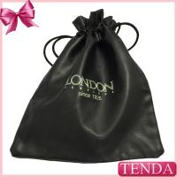 China Supplier Factory Making The Black PU Leather Pouches Ostomy Jeweller Drawstring Pouch with Rope on sale