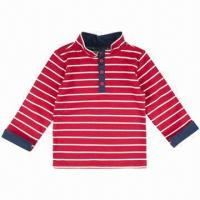 China Children's T-shirt, long sleeves, made of 100% cotton heavyweight jersey on sale