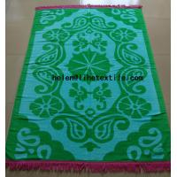 China reactive printed beach towel with fringes , OEM design,100% cotton material on sale