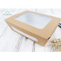 Best Disposable Meal Containers Biodegradable Take Out Food Containers With Window wholesale
