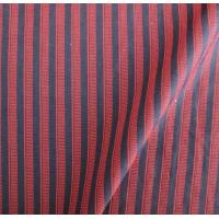 China Red with Black Stripe Polyester Nylon Fabric on sale