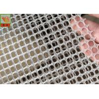 China SQUARE HOLE EXTRUDED PLASTIC NETTING, FILTER MATERIAL, 300GSM, 5MM HOLE SIZE, TRANSPARENT COLOR, 1M WIDE on sale