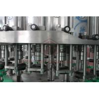 Metal Screw Cap Bottle Filling And Capping Machine / Hot Juice Glass Bottle Filler