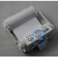 China Compatible white color thermal barcode ribbon Max Bepop printer 120mm*55m for outdoors label sticker printing on sale