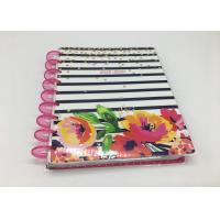 Best Custom Pink Spiral Daily Planner Notepad /  Colorful Printing Agenda Notepad wholesale
