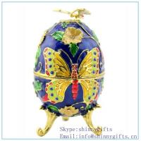 Best Riviera blue Egg Trinket Box, Vintage color of Jade blue Egg-Shaped Trinket Box SCJ749 wholesale