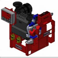 China 55 KW Fire Pump Engine Diesel Fuel With Compact Structure , UL / FM Aprroved on sale