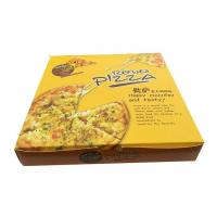 China Square Corrugated Pizza Boxes , Cardboard 10 Inch Pizza Boxes For Delivery on sale