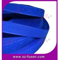 China Reusable Blue Velcro Hook & Loop , Nylon Loop Fabric 10mm - 180mm wholesale