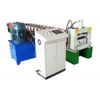 China A/C Motor Downspout Roll Forming Machine , Gutter Bending Machine For Drainage System on sale