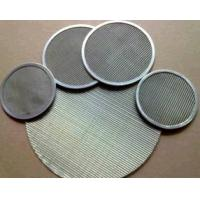 China 316L Stainless Steel Wire Mesh Filter Screen For Food Industry 0.12mm-2.5mm Thick on sale