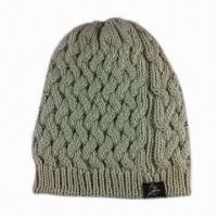 Best Ladies Fashionable Knitted Hat, Made of Acrylic Yarn wholesale