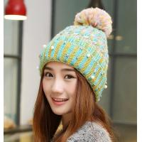 China Knit Hats Korean Winter Housewares Knit Hoods Thicker Warm Caps Wool Hat Winter Hat Women's Wool Cap on sale